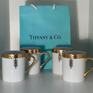 Tiffany & Co cups set of 4 imperial porcelain mugs
